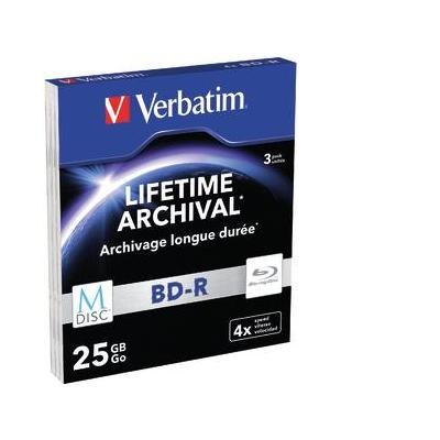 Verbatim BD: M-Disc BD-R, 3 Pack, Slim Case