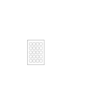 Avery Anti-tamper Label - Laser - L6112 Etiket - Wit