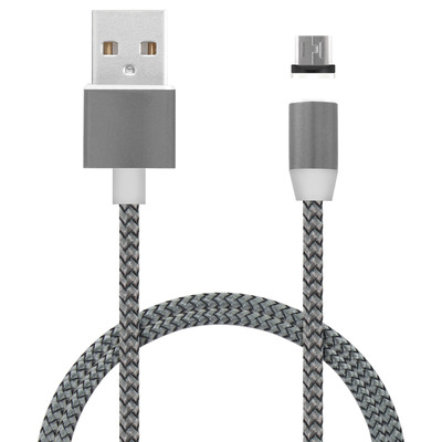 Mobiparts Magnetic Micro USB to USB Cable 1.5A Dark Grey 1m USB kabel - Grijs