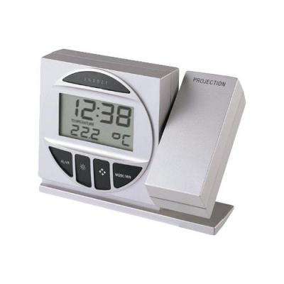 Technoline wekker: Radio Controlled Alarm Clock with Projection - Zilver