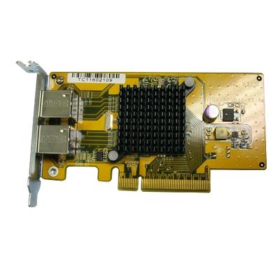 QNAP Dual-port GbE for TS-x79U (TS-879U/TS-1279U/TS-EC879U/TS Netwerkkaart - Aluminium,Geel