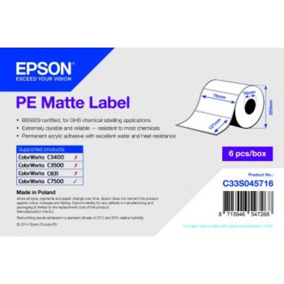 Epson PE Matte 76mm x 127mm, 960 Etiket - Wit