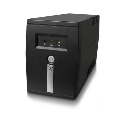 Ewent Line Interactive, 600 VA, 360 W, AVR, 1x Type F (CEE7/3), 1x IEC C13 UPS - Zwart