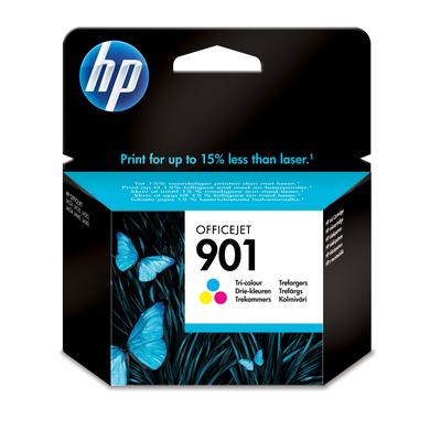 HP 901 originele drie-kleuren Inktcartridge - Cyaan,Magenta,Geel
