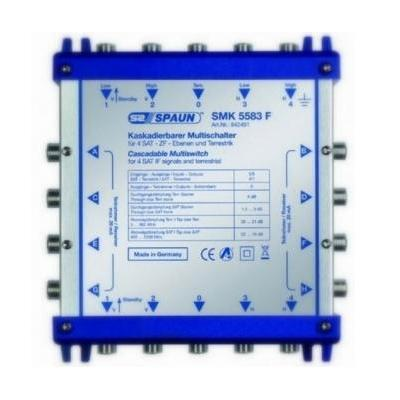 Spaun SMK 55123 F Kabel splitter of combiner - Blauw, Zilver