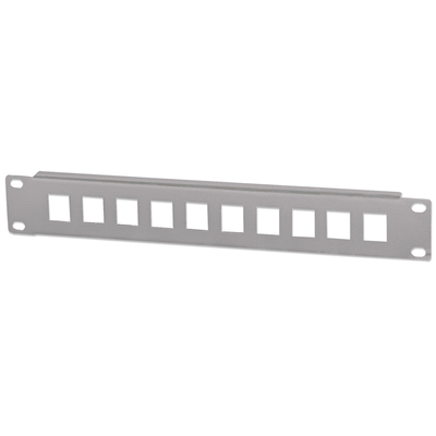 "Intellinet Patch Panel, Blank, 10"", 1U, 10-Port, Grey Patch panel accessoire - Grijs"
