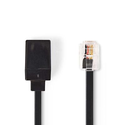 Nedis TCGP90205BK100 Telefoon kabel - Zwart