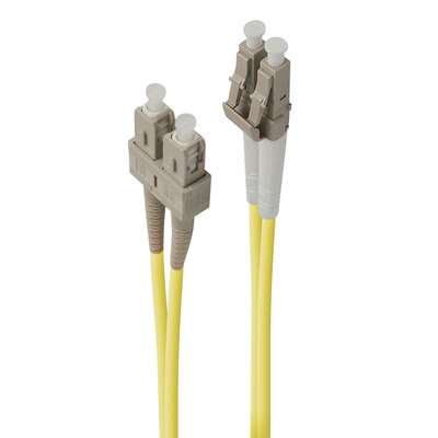 ALOGIC 30m LC-SC Single Mode Duplex LSZH Fibre Cable 09/125 OS2 Fiber optic kabel - Geel