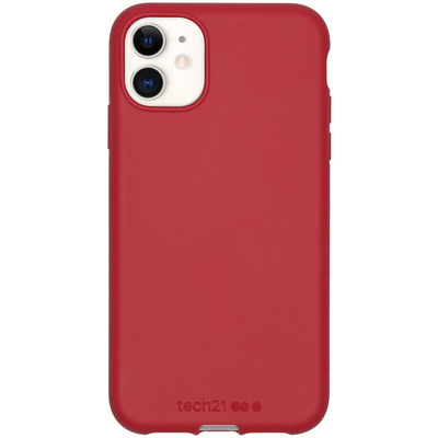 Antimicrobial Backcover iPhone 11 - Terra Red - Rood / Red Mobile phone case