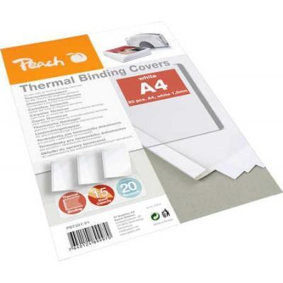 Peach binding cover: Thermal Binder Cover, white, for 15 sheets (A4, 80 gsm), 20-pack - Wit