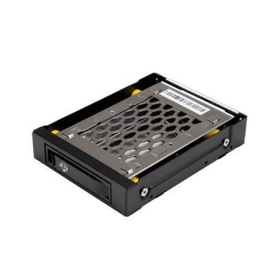 """Startech.com drive bay: 2.5 SATA schijf hot swap bay voor 3.5"""" bay anti-vibratie - Zwart"""