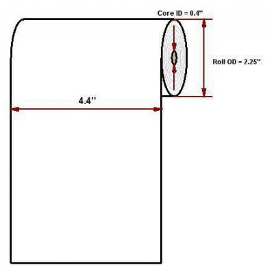"""Datamax O'Neil Hi-Temp 4.40"""" x 93' Thermal papier"""