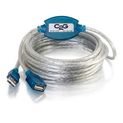 C2G 5m USB 2.0 A Male -> A Female Active Extension Cable USB kabel - Beige