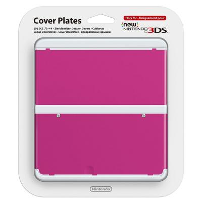 Nintendo portable game console case: New 3DS Cover 019 - Roze