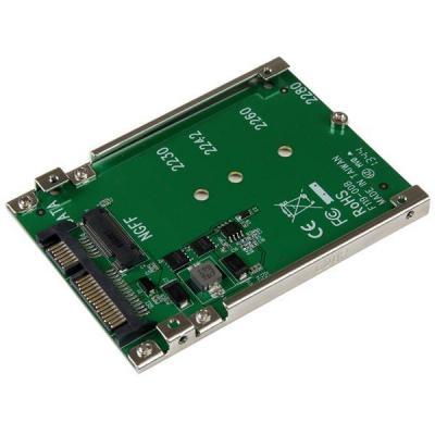 Startech.com interfaceadapter: M.2 NGFF SSD naar 2,5 inch SATA-adapter / converter - Groen