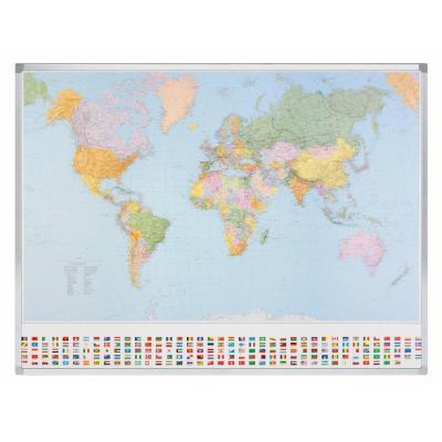 Legamaster Professional landkaart Wereld kaart - Multi kleuren