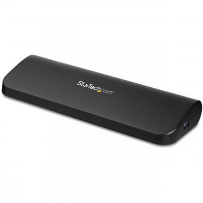 Startech.com docking station: HDMI en DVI/VGA dual monitor docking station voor laptops USB 3.0 - Zwart