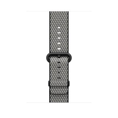 Apple : Bandje van geweven nylon - Zwart (geruit, 42 mm) - Zwart, Grijs
