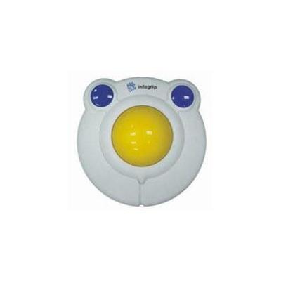Ergoline Large kidsball ps2/usb Input device - Blauw, Wit, Geel