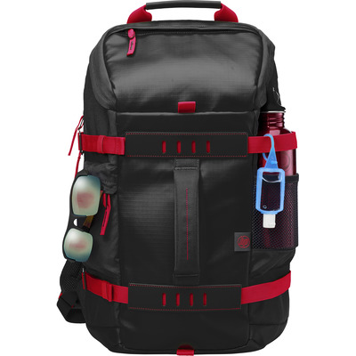HP 15.6 in Odyssey Red/Black Backpack Rugzak