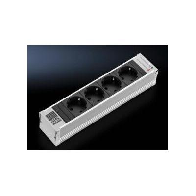 Rittal DK 7856.100 Stekkerdoos - Aluminium, Zwart