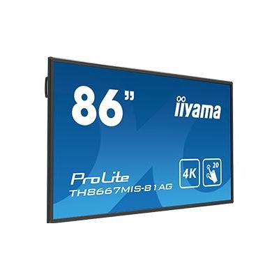 Iiyama public display: 86'' Interactive 4K LCD Touchscreen w / integrated annotation software & USB playback - Zwart