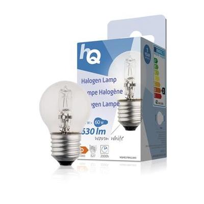 Hq halogeenlamp: Halogen lamp ball E27 42W 630lm 2800K