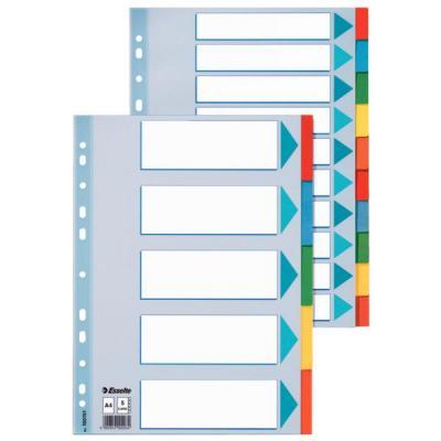 Esselte indextab: 5-Tabs Karton, 11gaats, A4