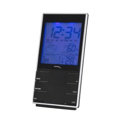 Technoline weerstation: WS 9120, alarm, 2 x AAA Micro, 1.5 V - Zwart, Zilver