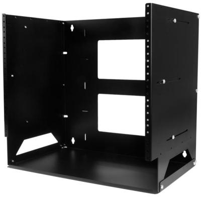 """StarTech.com Wand monteerbaar server ingebouwd schap wandkast massief staal 8U aanpasbare diepte 12""""-18"""" ....."""
