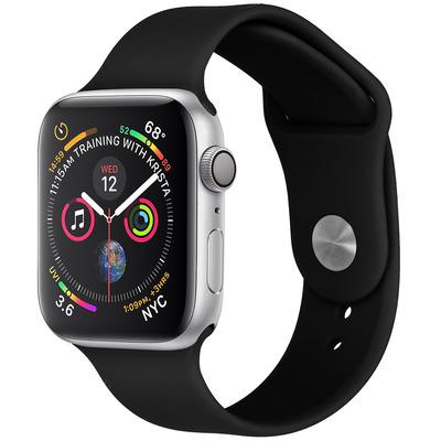 Flexibel Siliconen bandje Apple Watch 44 / 42 mm - Zwart / Black Mobile phone case