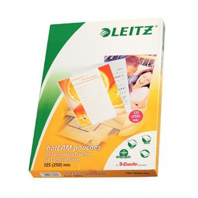 Esselte laminatorhoes: Warm lamineerhoezen EVA, A4 125 micron - Transparant