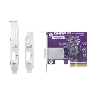 QNAP QXP-400ES-A1164 Interfaceadapter - Blauw