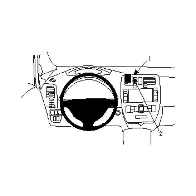 Brodit ProClip Houder - Zwart