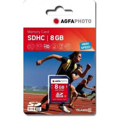 AgfaPhoto 8GB SDHC Flashgeheugen - Blauw