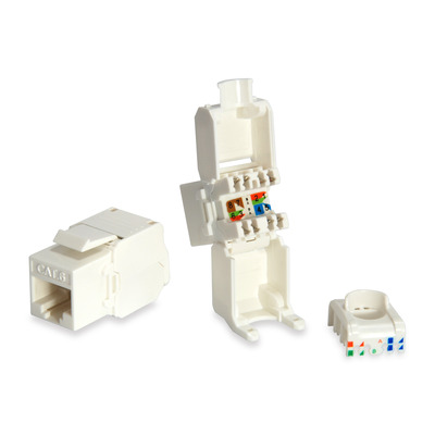 Equip Cat.6 Unshielded Keystone Jack Toolfree, White Kabel adapter - Wit