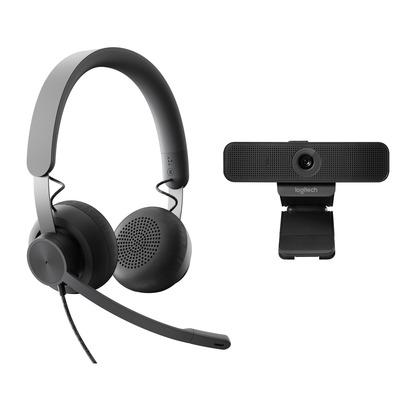 Logitech Personal Collaboration kit - Zone Wired & C925e - UC Videoconferentie systeem - Zwart
