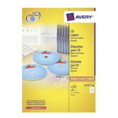Avery CDten, wit, Ø 117,0 mm Etiket
