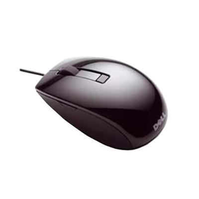 Dell computermuis: Muizen: zwarte USB-lasermuis met schuifwiel en zes knoppen