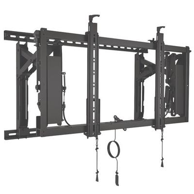 Chief ConnexSys liggend video wall montagesysteem met rails TV standaard - Zwart