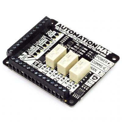Pimoroni : Automation HAT - Zwart