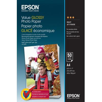 Epson fotopapier: Value Glossy Photo Paper - A4 - 50 sheets - Multi kleuren