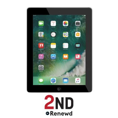 2nd by renewd tablet: Apple iPad 4 Wifi refurbished door 2ND- 16GB Spacegrijs - Zwart (Refurbished ZG)