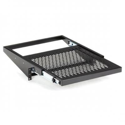 Black Box Rackmount Vented Sliding Shelf, 50-lb. Capacity Rack toebehoren - Zwart