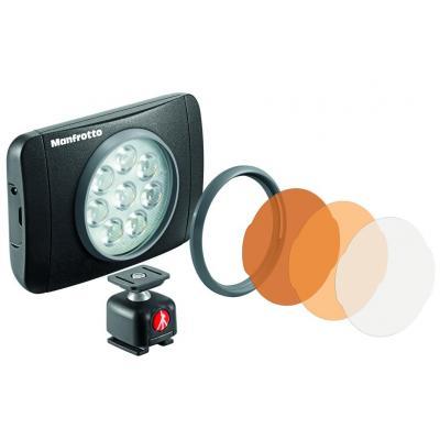 "Manfrotto camera flitser: 5600K, 1/4"", 175g, black - Zwart"