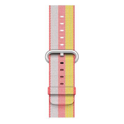 Apple : Bandje van geweven nylon - Rood (42 mm) - Grijs, Rood, Geel