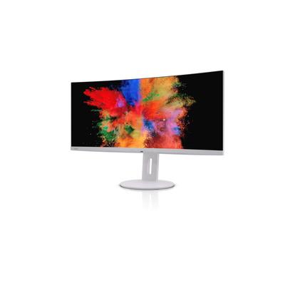 "Fujitsu Display P34-9 UE Curved 34.1"" UltraWide Quad HD LED USB-C Portreplicator Monitor - Grijs"