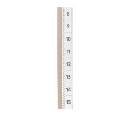 Durable : Tabfix zelfklevende ruiters 200 mm 2 regelig - Transparant
