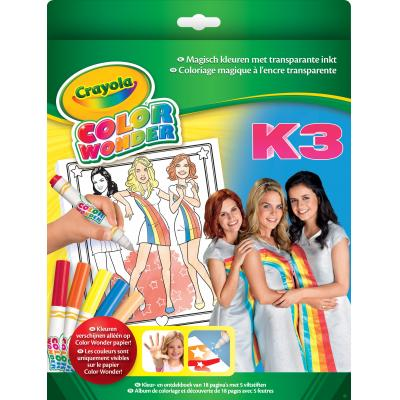 Crayola kleurplaat en boek: Color Wonder Kleurboek K3 met 5 viltstiften