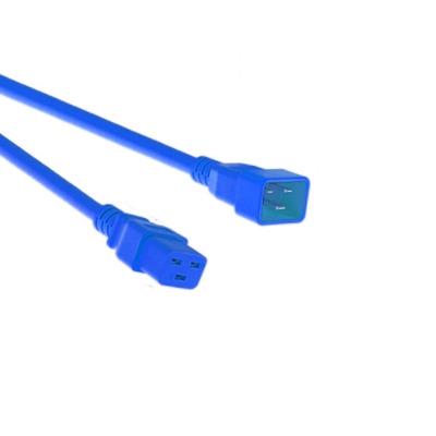 EECONN Netsnoer, C20 - C19, Kabel: H05VV-F 3x 1.50mm², Kleur: Blauw, Lengte: 1.2 meter Electriciteitssnoer